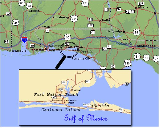Destin And Fort Walton Beach Attractions: Where Is Destin Beach Florida On The Map At Slyspyder.com